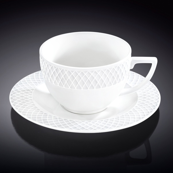 Tea Cup & Saucer set of 6 8 oz | 240 ml