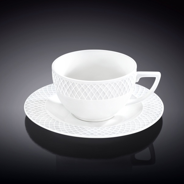 Coffee Cup & Saucer SET OF 6 3 oz | 90 ml