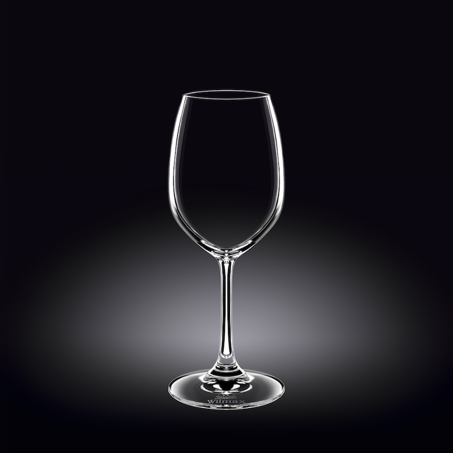 wine glass 12 oz  350 ml set of 6 in plain box