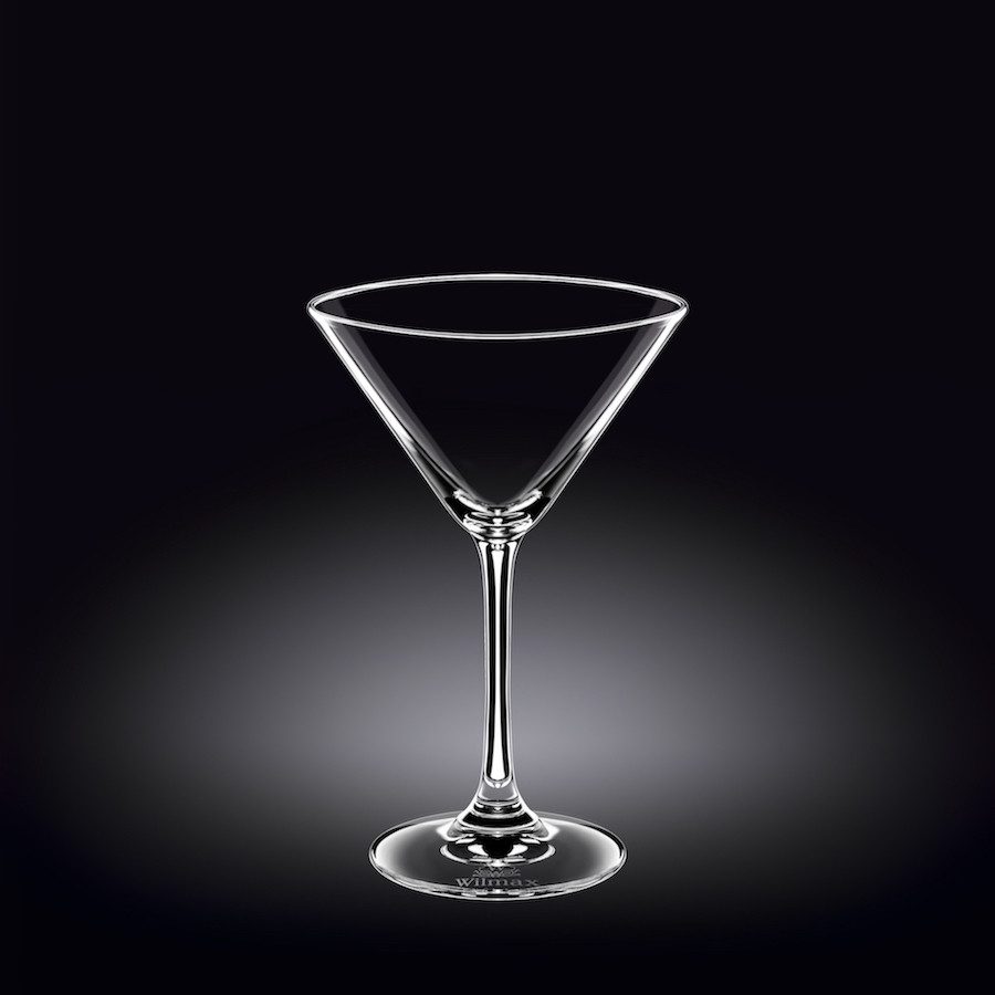martini glass 9 oz  270 ml set of 6 in plain box