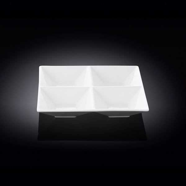 divided square dish  8inch x 8inch  20 x 20 ??