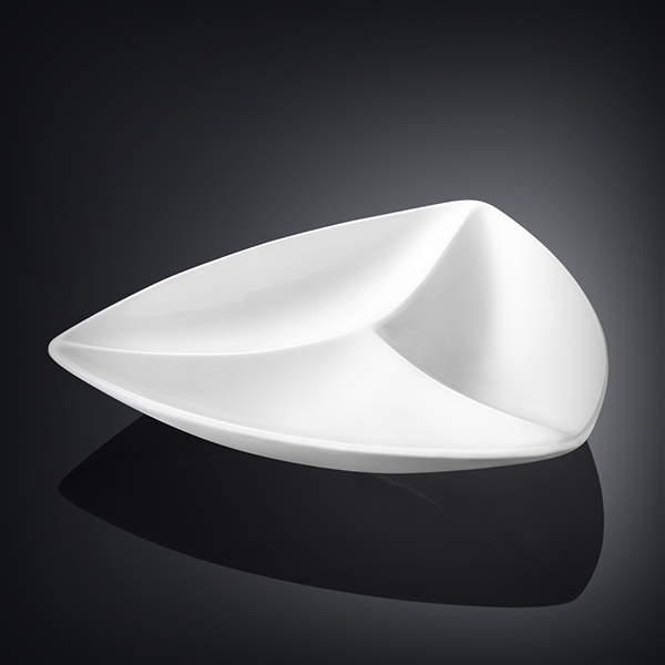 divided triangular dish 8inch  20 cm