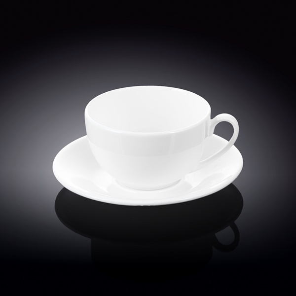 8 fl oz  250 ml tea cup and saucer set of 6 in colour box