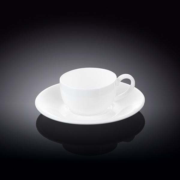 3 fl oz  100 ml coffee cup and saucer set of 6 in colour box