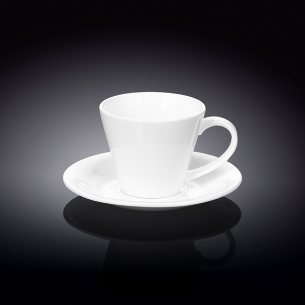 6 fl oz  180 ml tea cup and saucer set of 6 in colour box