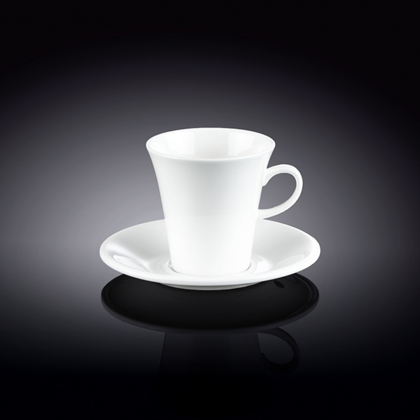 5 fl oz  160 ml coffee cup and saucer set of 2 in colour box