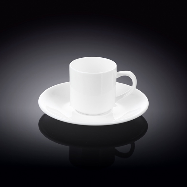 3 fl oz  90 ml coffee cup and saucer set of 6 in colour box
