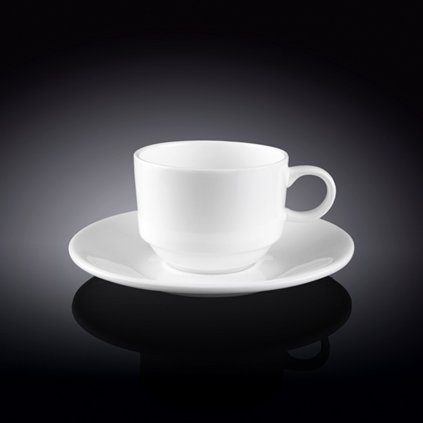 5 fl oz  140 ml coffee cup and saucer