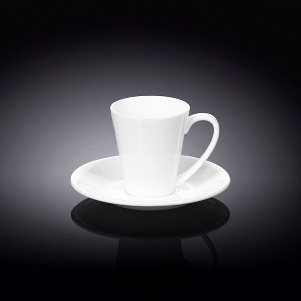 4 fl oz  110 ml coffee cup and saucer set of 2 in colour box