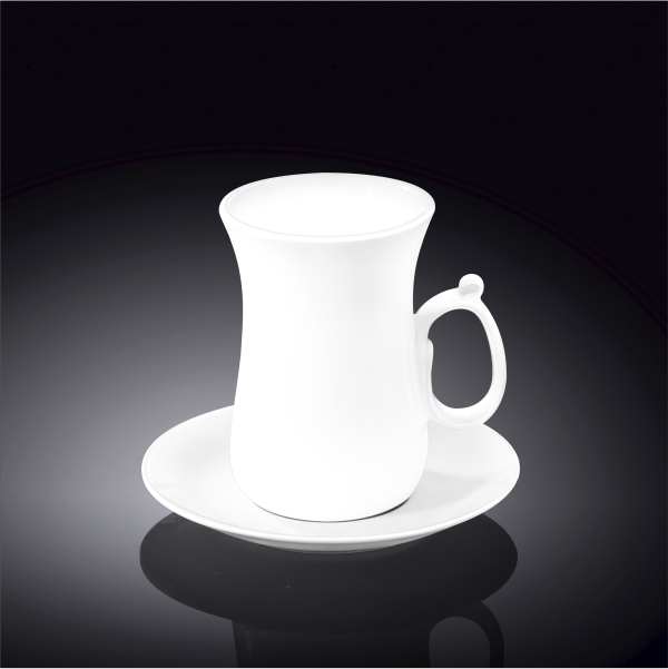 4 fl oz  120 ml tea cup and saucer set of 6 in colour box