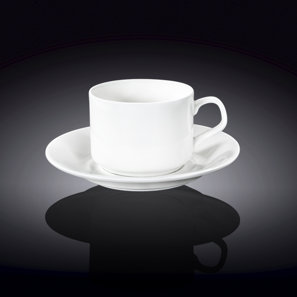 7 fl oz  215 ml tea cup and saucer set of 6 in colour box