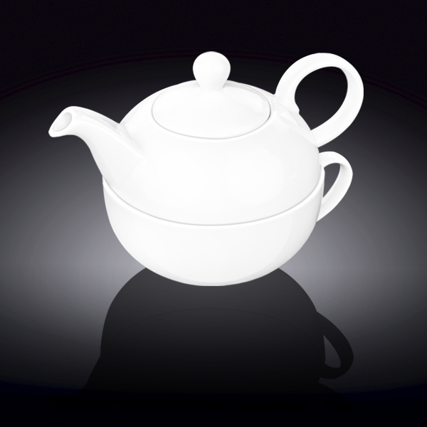 set: teapot 13 fl oz  375 ml and cup 11 fl oz  340 ml