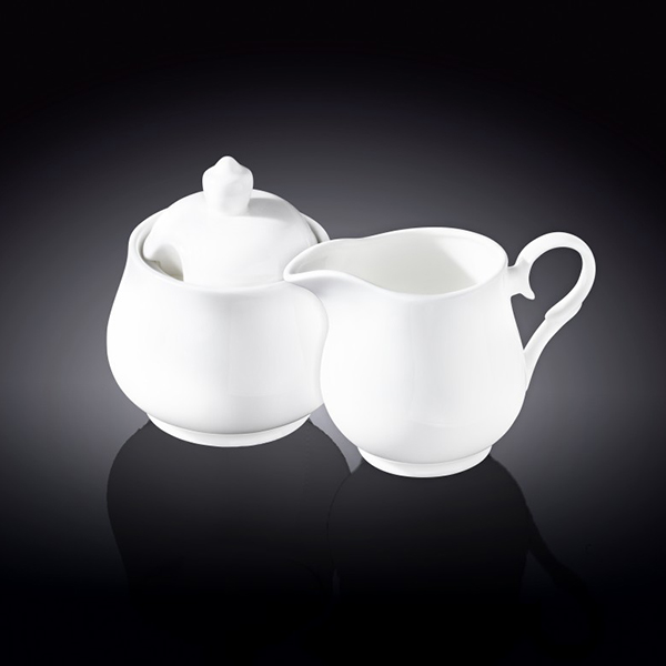 sugar bowl and creamer set in colour box