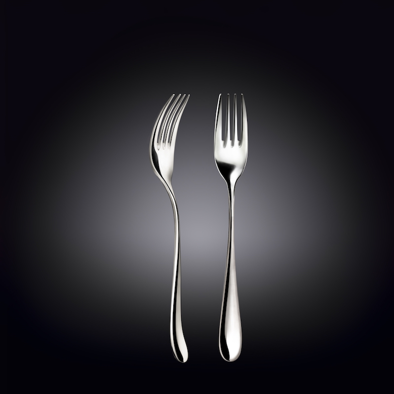 dinner fork 8inch  20 cm white box packing