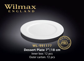 PROFESSIONAL DESSERT PLATE 7inch | 18 CM