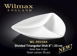 DIVIDED TRIANGULAR DISH 8inch | 20 CM