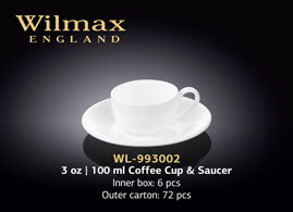 3 OZ | 100 ML COFFEE CUP & SAUCER