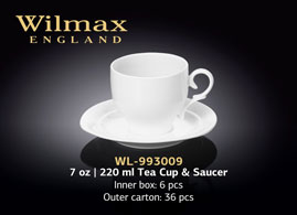 7 OZ | 220 ML TEA CUP & SAUCER