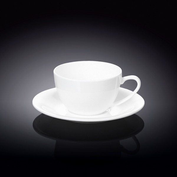 6 fl oz  180 ml cappuccino cup and saucer set of 4 in colour bo