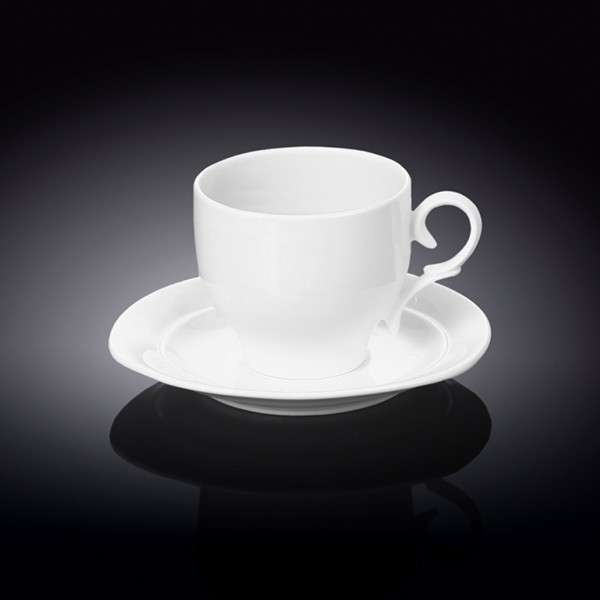 7 fl oz  220 ml tea cup and saucer set of 6 in colour box