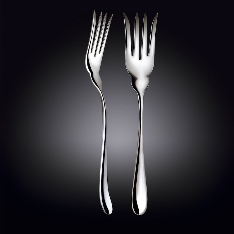 fish serving fork 10.5inch  26.5 cm white box packing