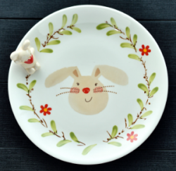 Plate With Rabbit