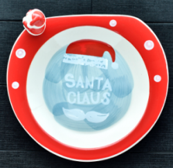 Plate With Santa