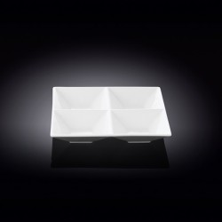 divided square dish  6inch x 6inch  15 cm x 15 ??
