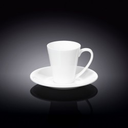 4 fl oz  110 ml coffee cup and saucer set of 6 in colour box