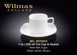 7 OZ | 200 ML TEA CUP & SAUCER